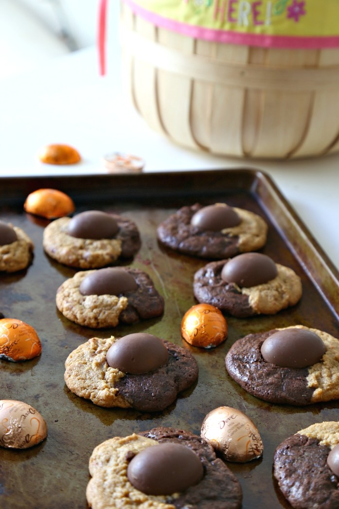 Peanut Butter Chocolate Swirl Cookies with Easter PB Eggs 8--030616