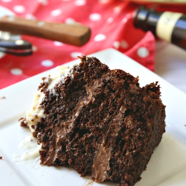 One-Pot Chocolate Guinness Cake with Chocolate & Cream Cheese Frosting