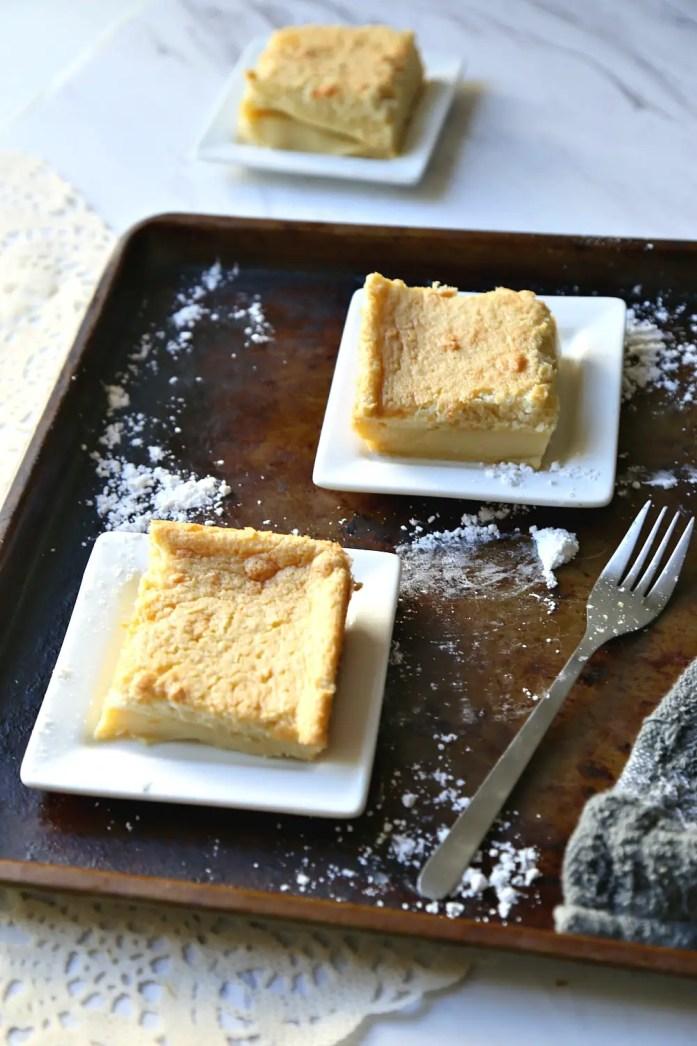 Vanilla Custard Souffle Cake 9--111616