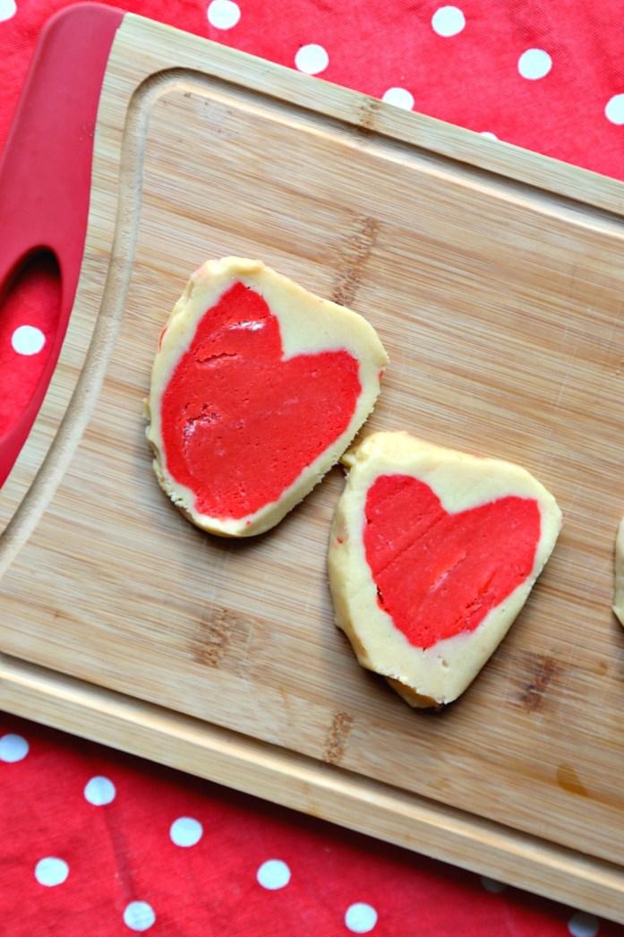 Slice and Bake Heart Sugar Cookies 9--012917