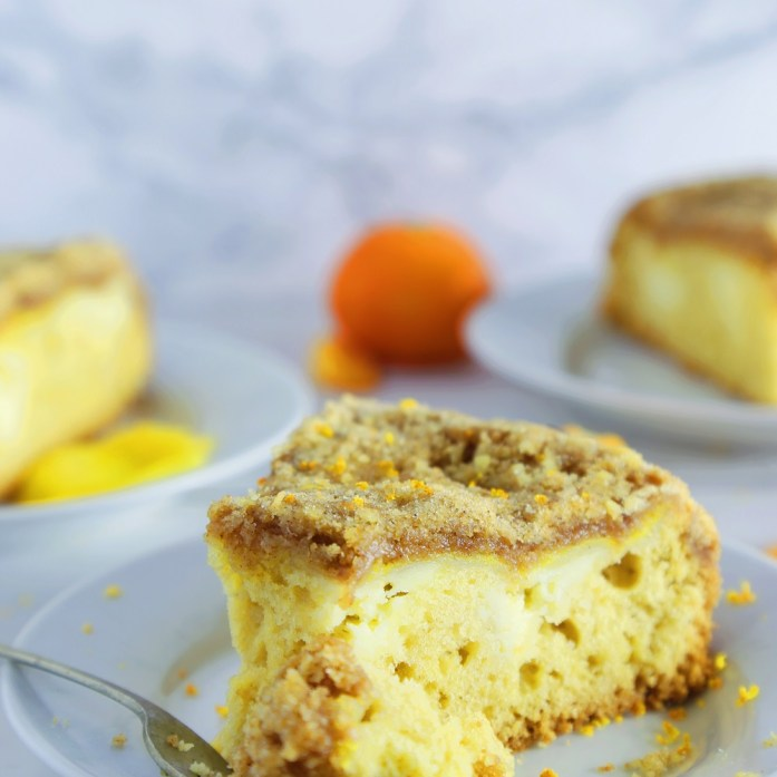 Cheesecake-Topped Orange Curd Coffee Crumb Cake