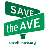 """Save the Ave"" logo"
