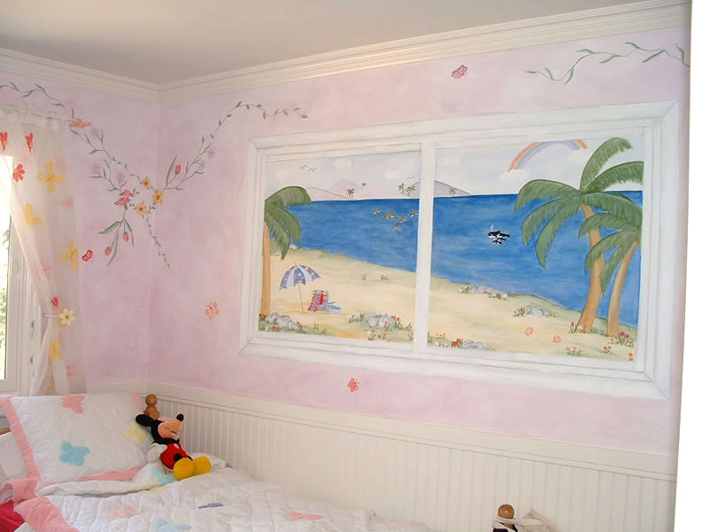 Hand Painted Window Wall Murals
