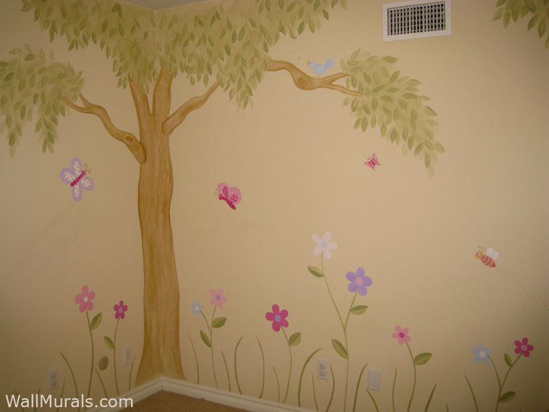 Girls Room Wall Murals Wall Murals For Girls Wall Murals By ColetteWall Murals By Colette