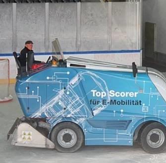 Beschriftung Eismaschine