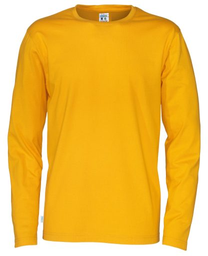 Cottover - 141020 - T-Shirt LS Man - Gul (255)