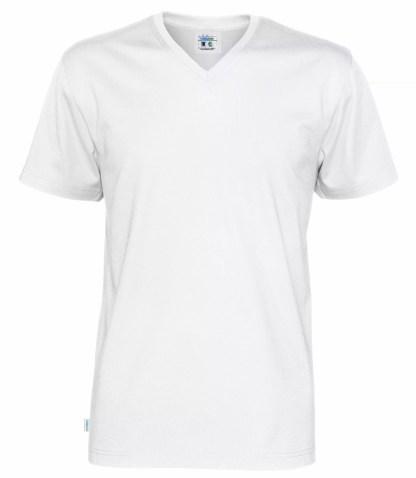Cottover V neck T-skjorte herre - hvit (100)