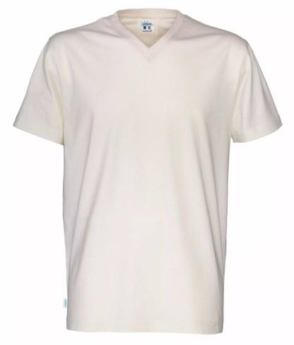 Cottover V neck T-skjorte herre - off white (105)