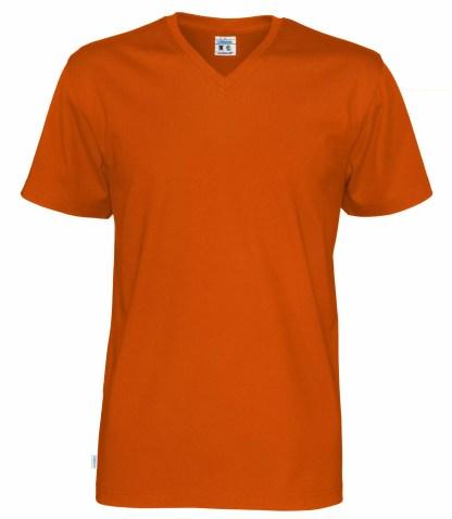 Cottover V neck T-skjorte herre - orange (290)