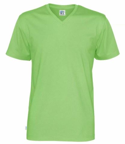 Cottover V neck T-skjorte herre - grønn (645)