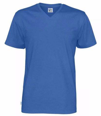 Cottover V neck T-skjorte herre - royal blue (767)