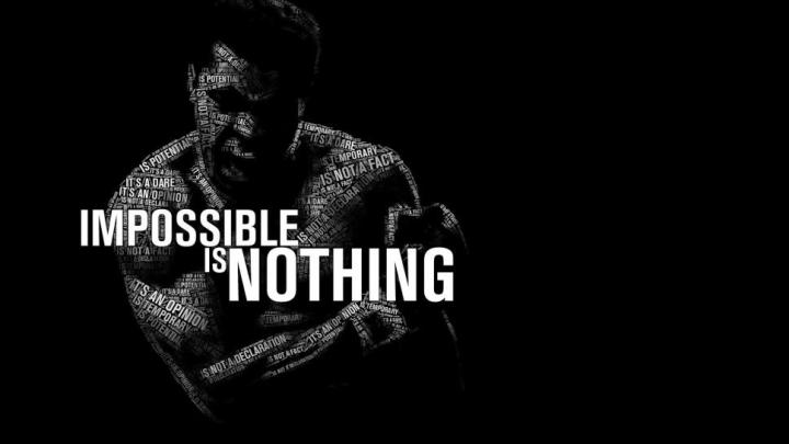 Ali quote impossible is nothing black and white