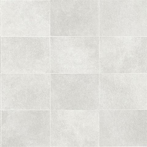 cecelia light grey faux tile wallpaper