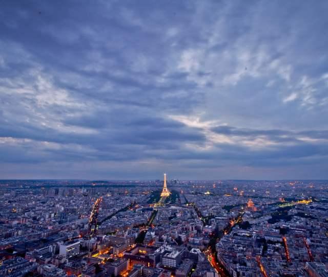Aerial Photo Of Eiffel Tower Paris France Hd Wallpaper