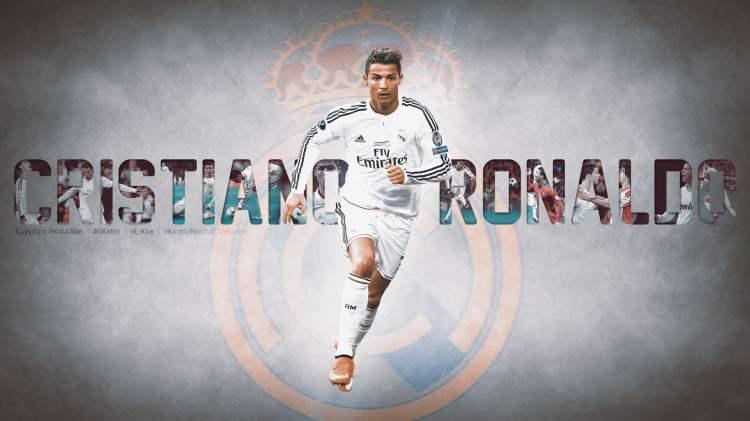 White and brown wooden table decor, Cristiano Ronaldo ...