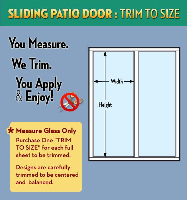 sliding patio door trim to size service