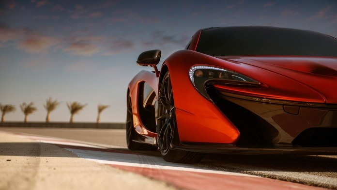 wallpaper mclaren p1, orange, cars, half front - wallpapermaiden
