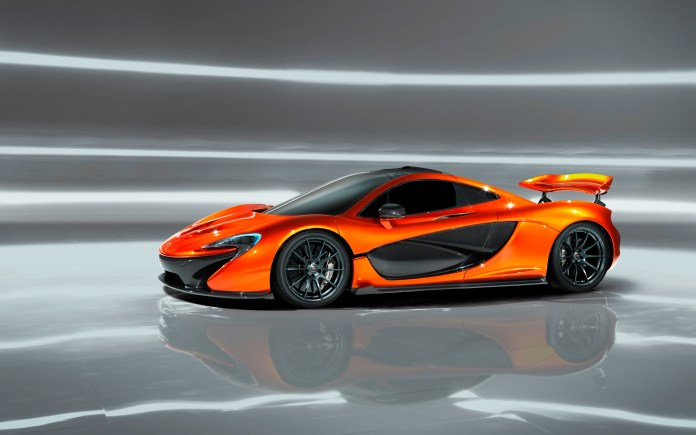 download 2560x1600 mclaren p1, supercar, cars, orange, side view