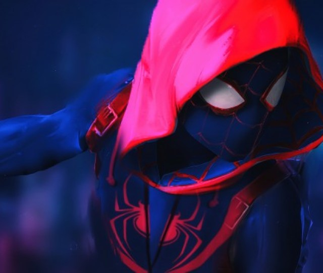 X Spider Man Into The Spider Verse Hoodie Animation
