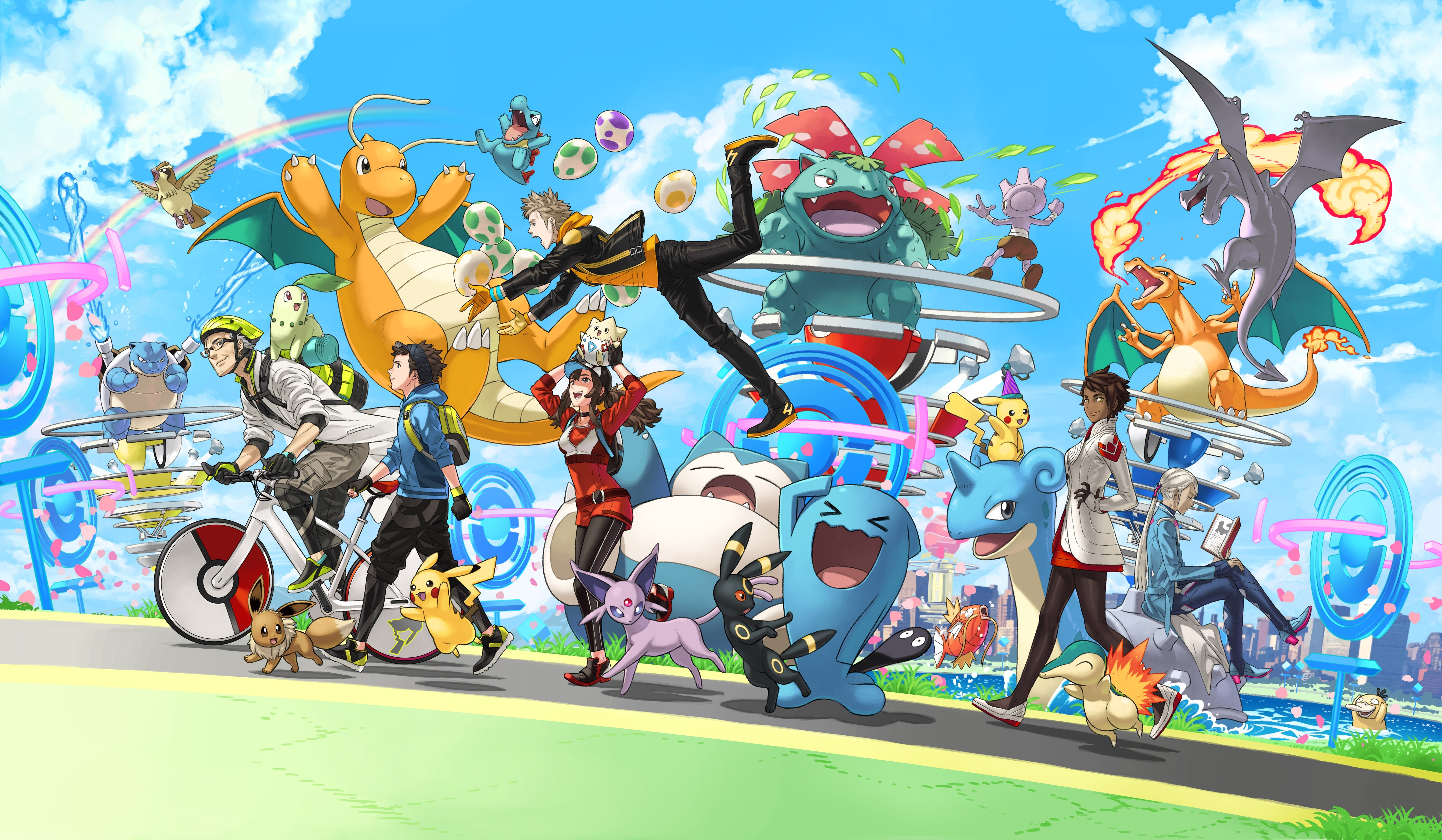 Download 6286x3662 Pokemon Go Characters Anime Games Wallpapers Wallpapermaiden