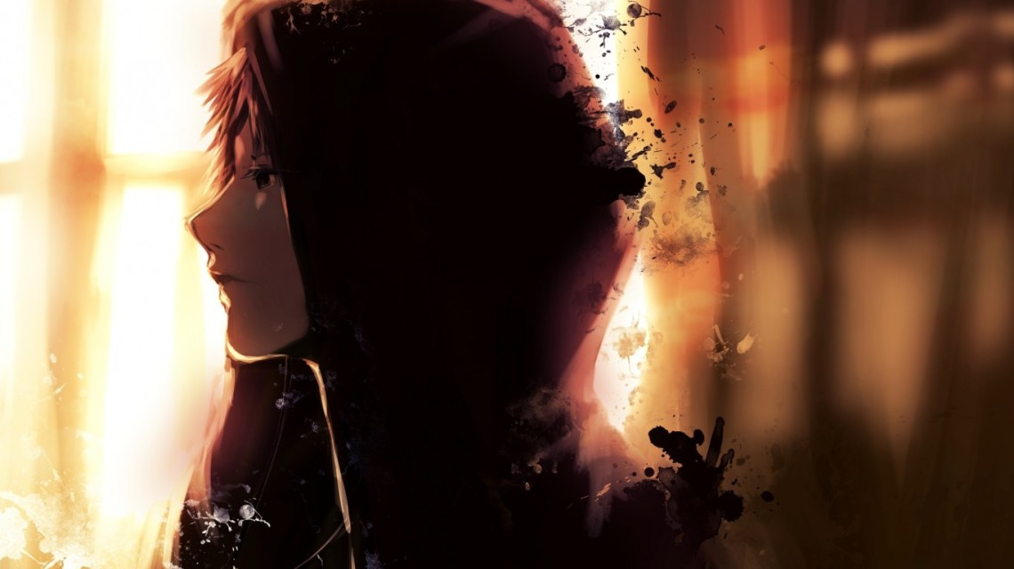 Download 1366x768 Anime Boy Hoodie Profile View Sad Expression Wallpapers For Laptop Notebook Wallpapermaiden
