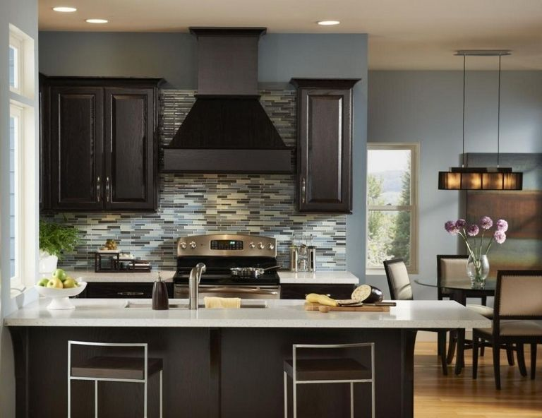 Color Schemes For Kitchens With Dark Cabinets