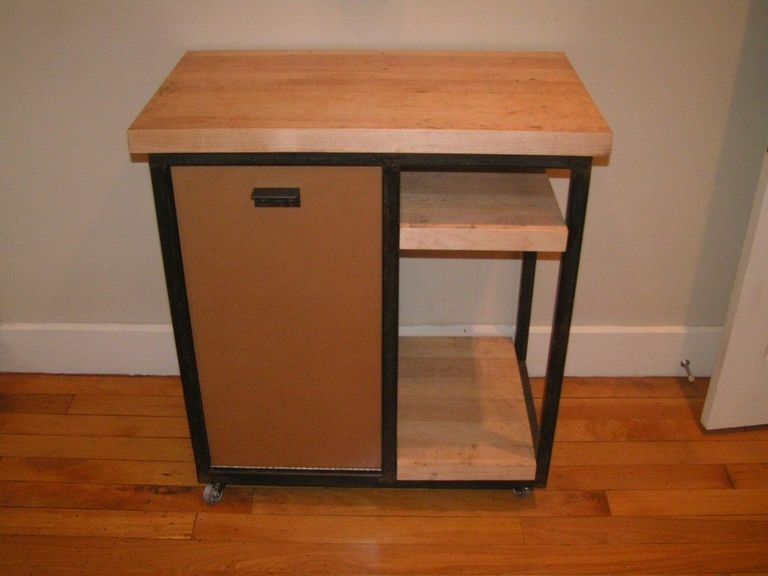 Kitchen Cart With Trash