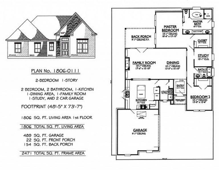 Small House Plans With 2 Car Garage