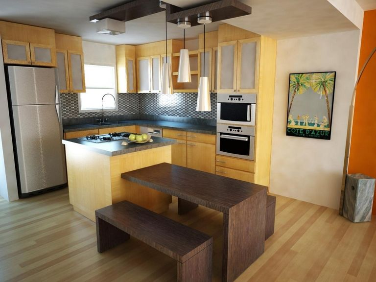 Small Kitchen Layout With Island