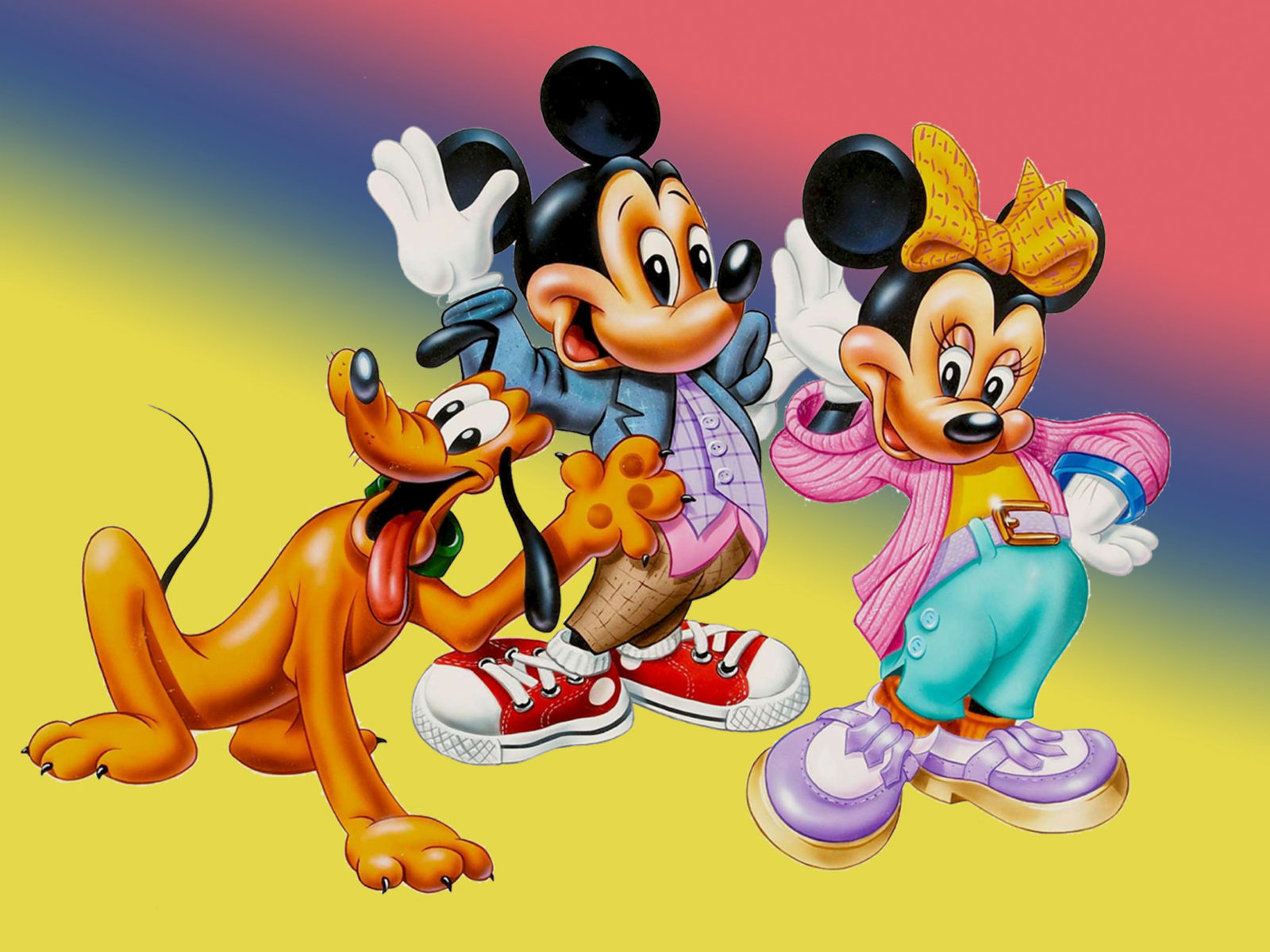 Mickey Mouse Minnie And Pluto Beautiful Hd Desktop