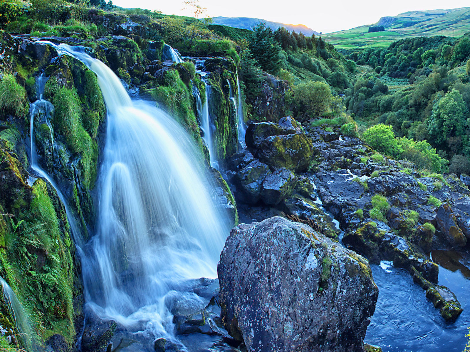 Loup Of Fintry Is A Waterfall On The River Endrick East Of