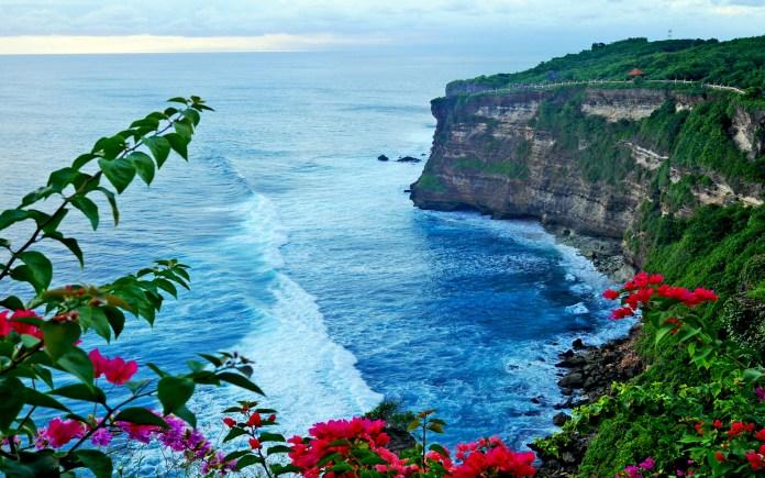 Sea Coast Pura Luhur Uluwatu Temple In Bali Indonesia Hd ...