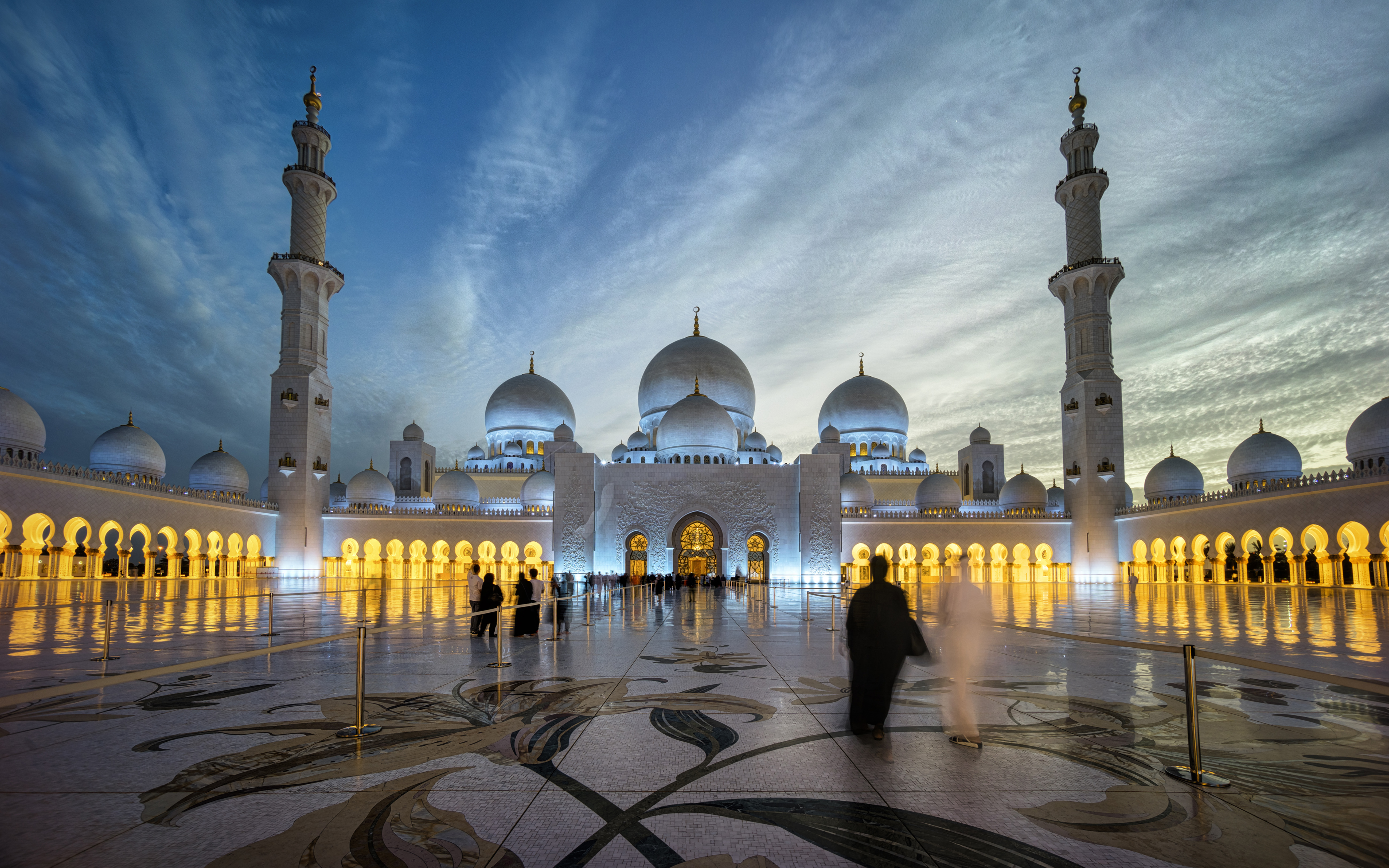 Sheikh Zayed Grand Mosque Centre Abu Dhabi Beautiful