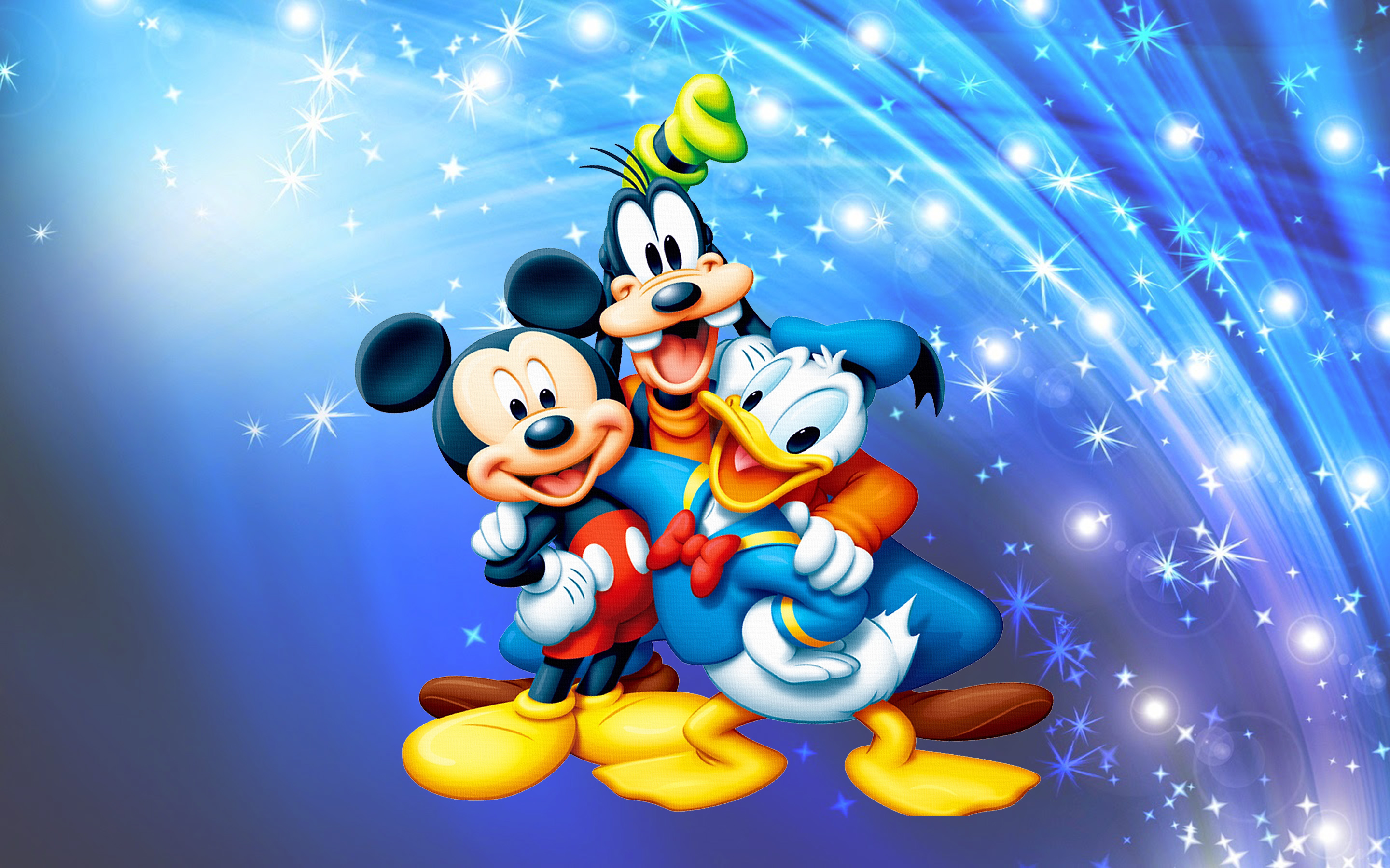 Mickey Mouse Donald Duck And Pluto Desktop Wallpaper Full