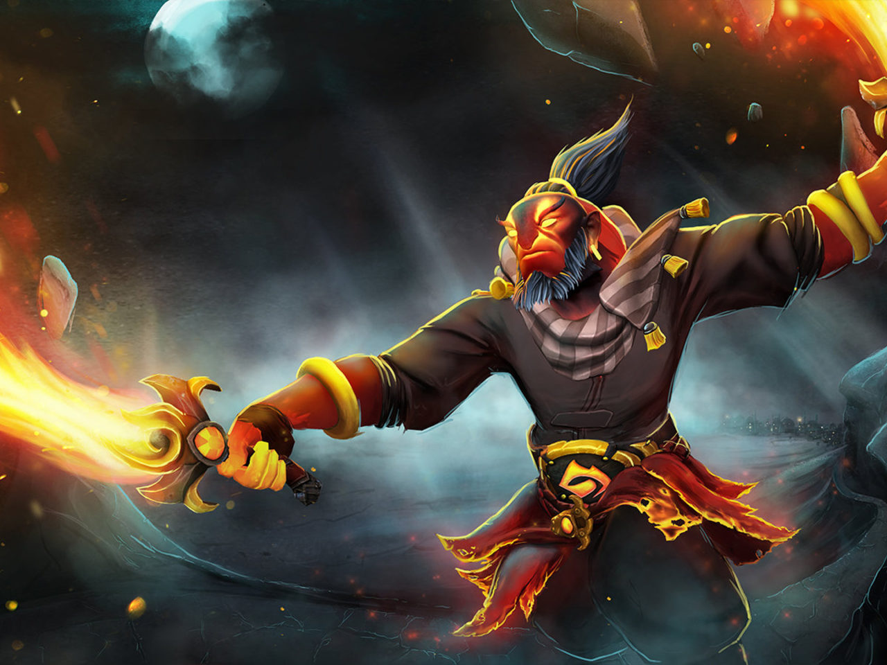Ember Spirit Flame Sword Load Screen Dota 2 Hero Pictures