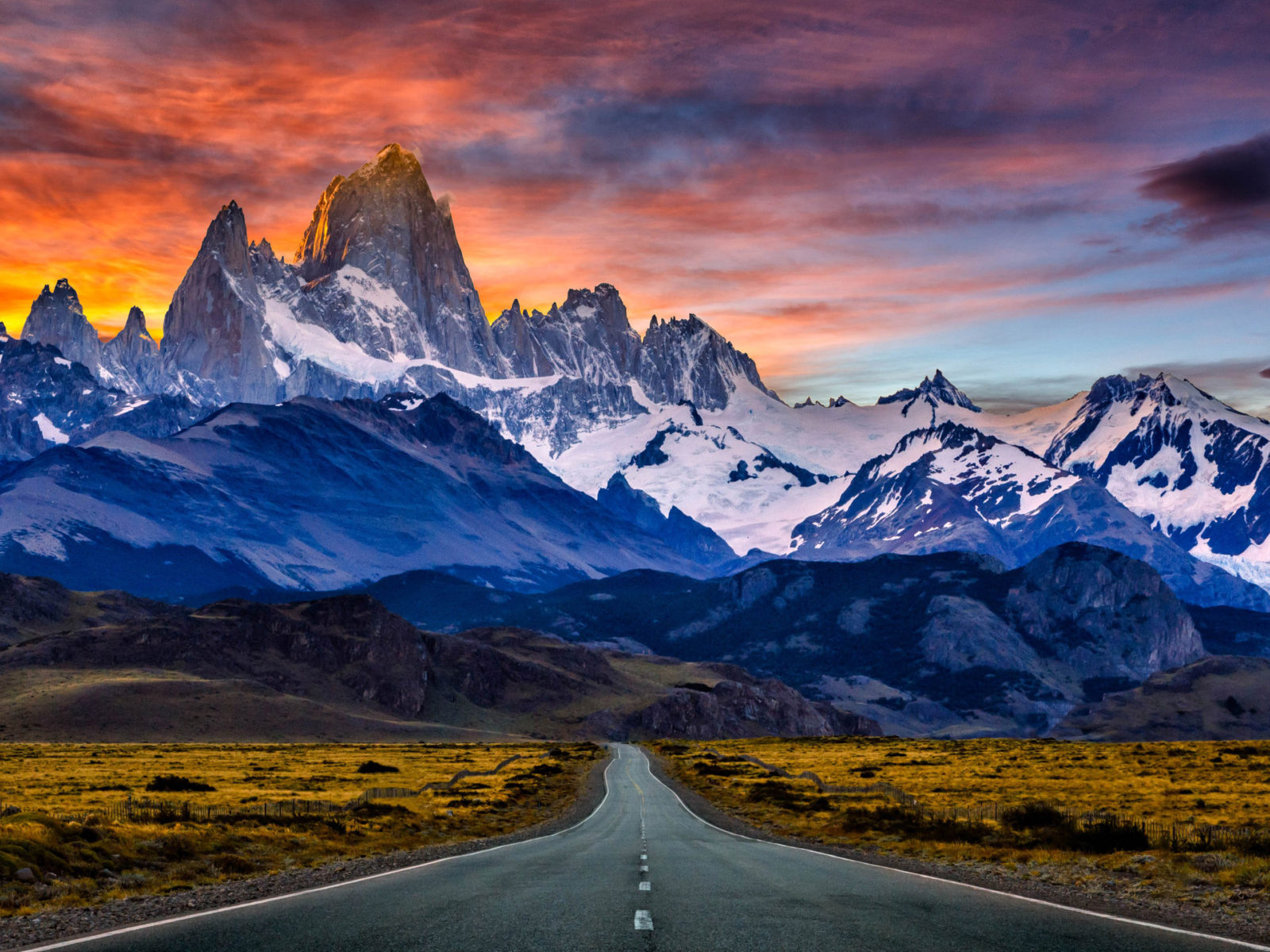 Fitz Roy Mountain In South America Patagonia Between