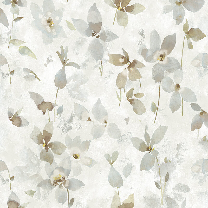 nh10607 floral print taupe beige wallpaper senzai wallpaper