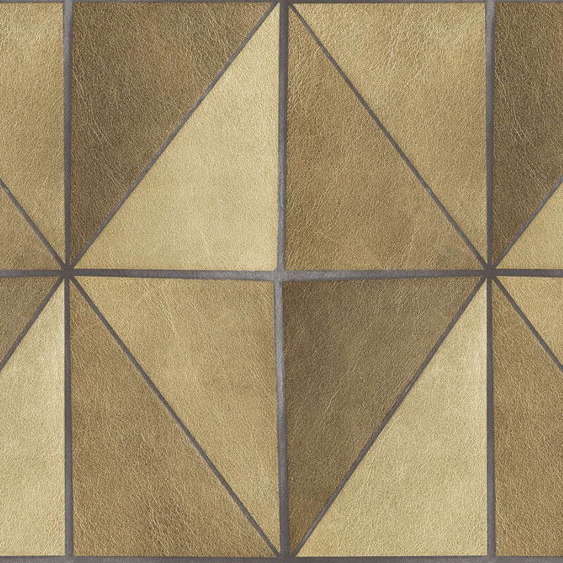 NH30207 Leather Geo Gold Precious Elements Wallpaper Collection