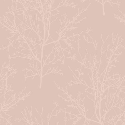 UK11501 Pear Tree Glass Bead Tree design Metallic Rose Wallpaper