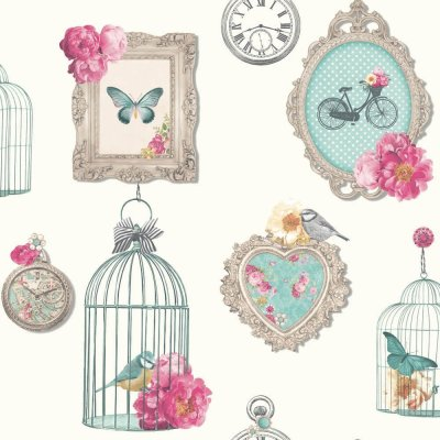 Madeline Floral Butterfly Bird Wallpaper 694401 Arthouse