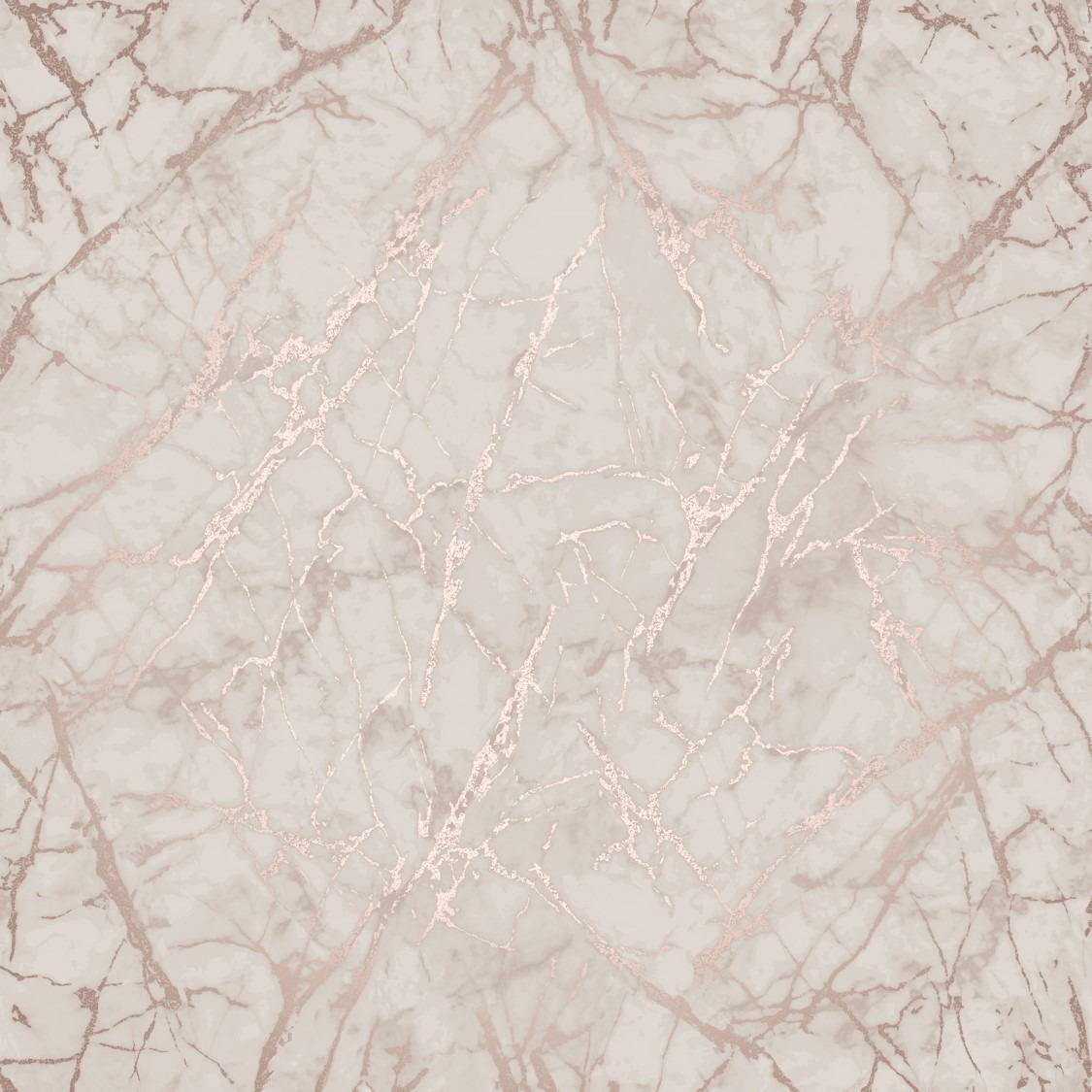 Rose Gold Metallic Marble Wallpaper