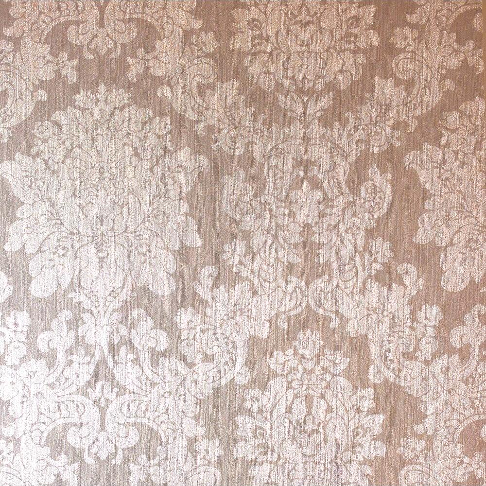 Foil Damask Wallpaper Rose Gold Arthouse 294400