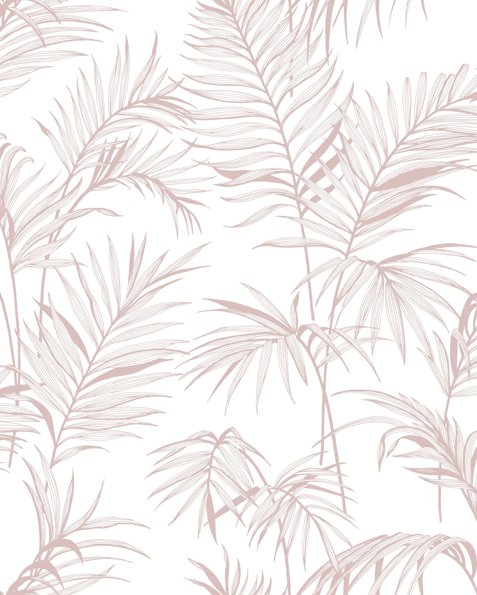 Leaf Litho Pink Botanical Wallpaper Wallpaper Sales