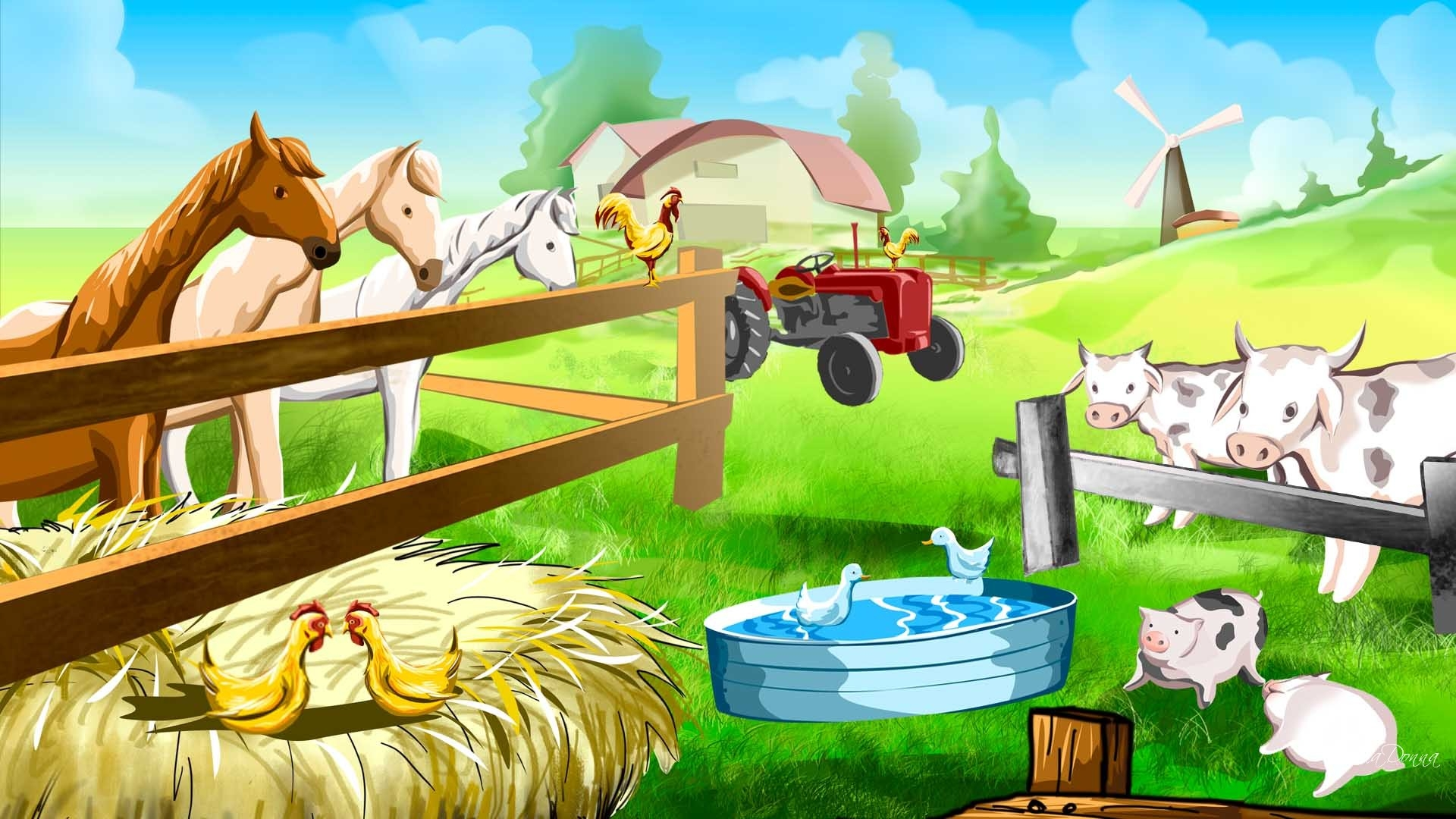 Download Farm Wallpaper For Kids Gallery