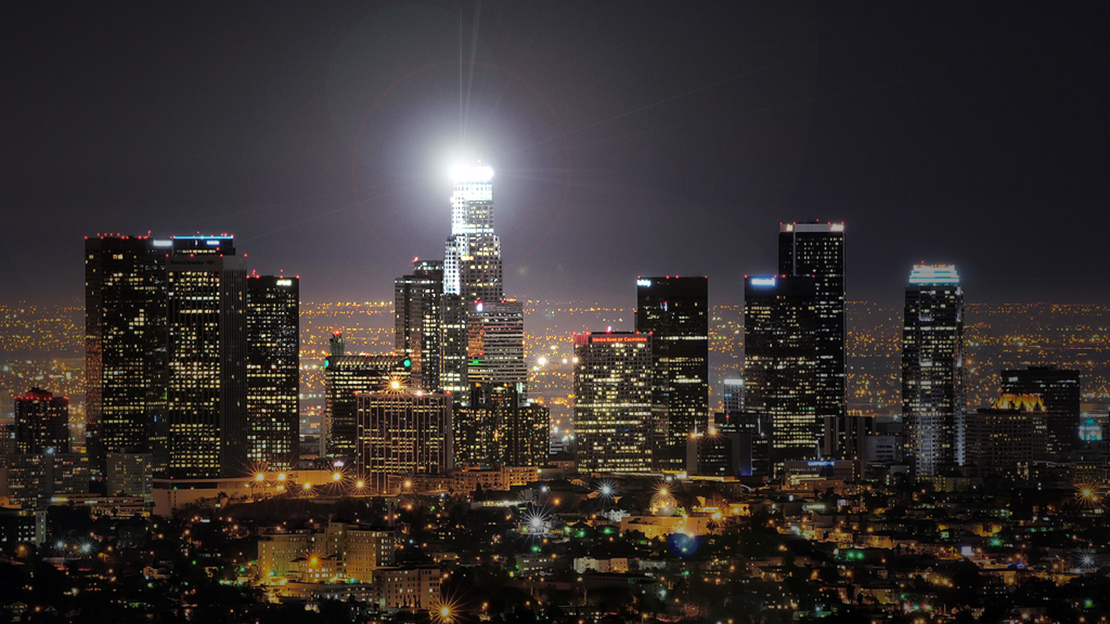 Download Los Angeles Skyline Wallpaper HD Gallery