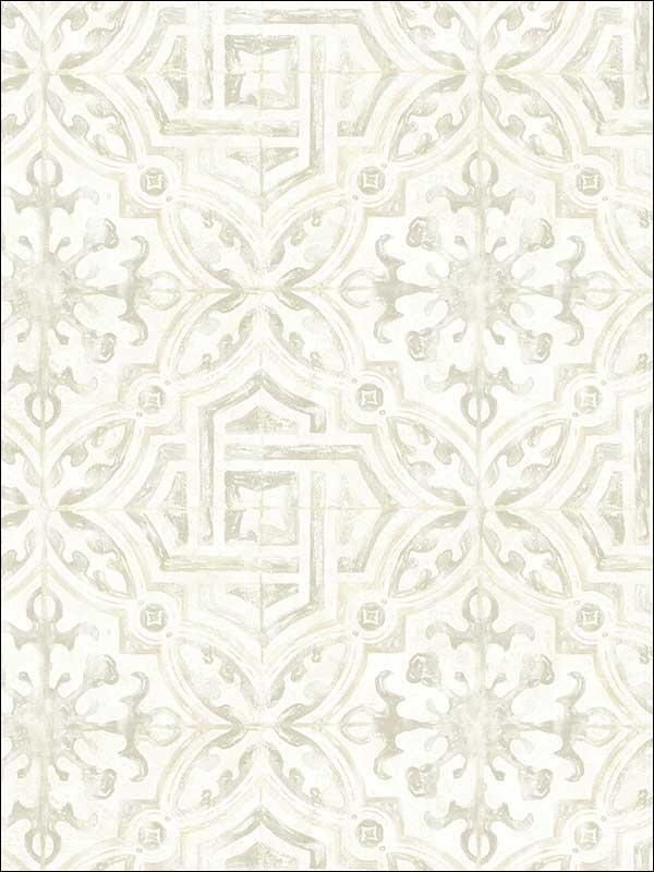 chesapeake 311712333 sonoma grey spanish tile wallpaper