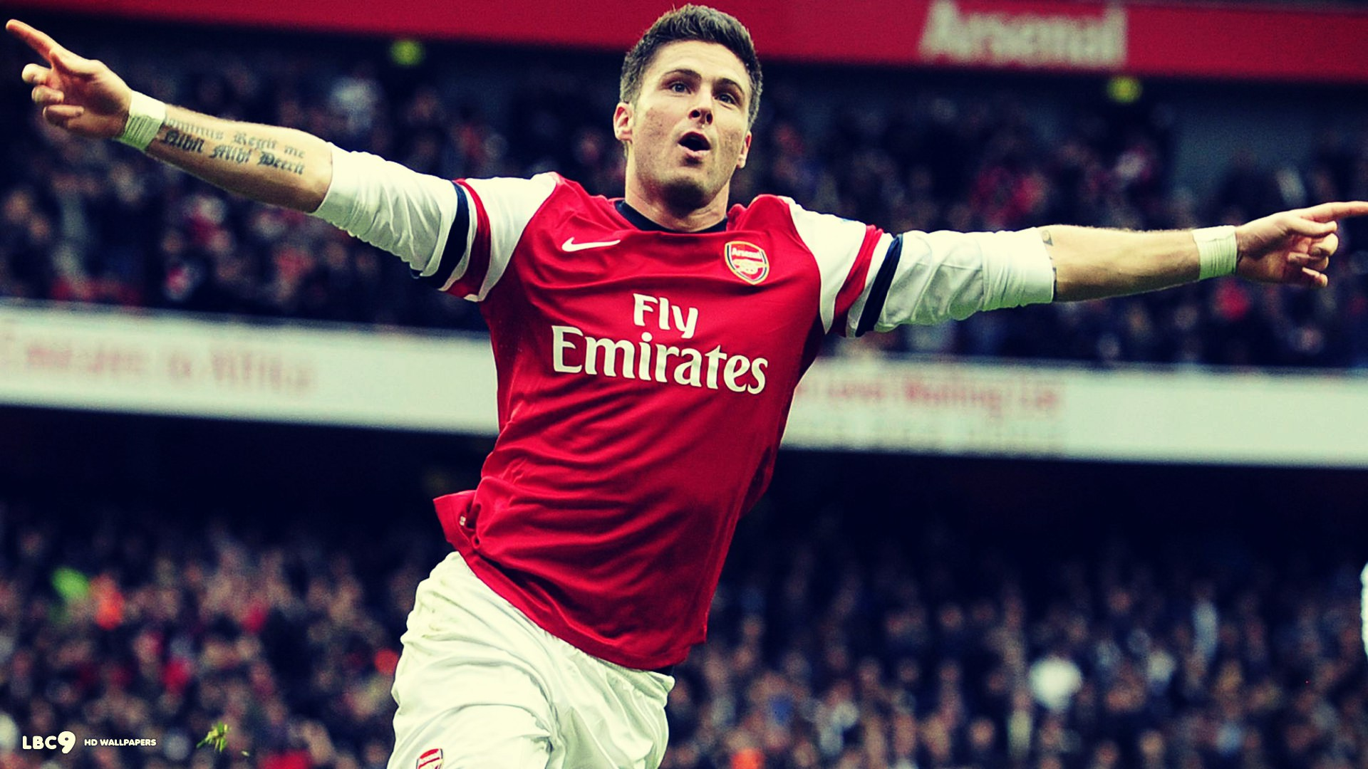 giroud arsenal wallpaper arsenal