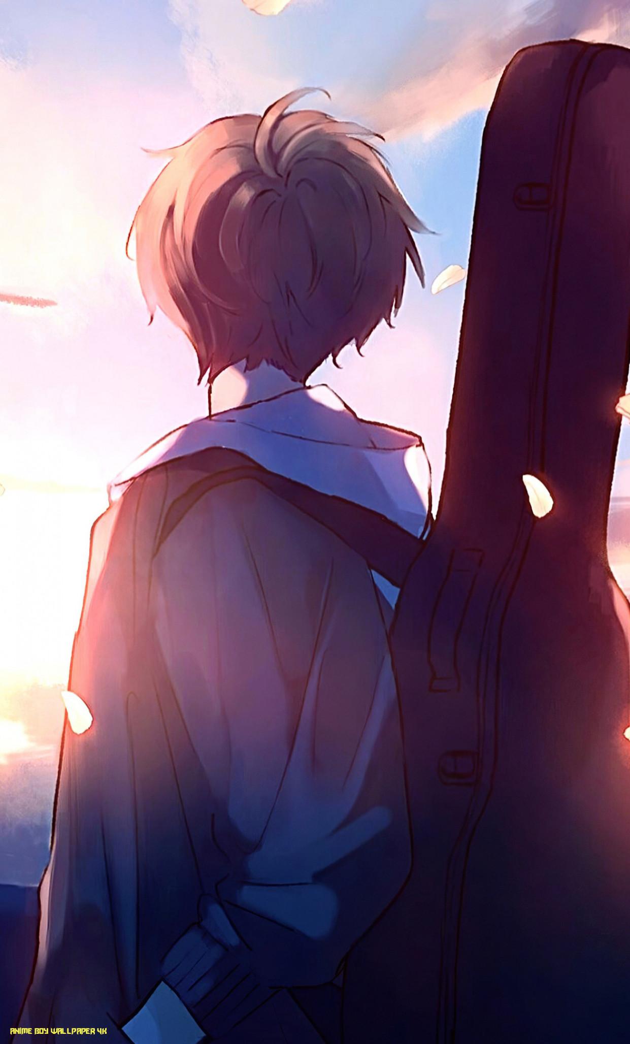 Anime Boy Wallpaper 14k Phone Anime Boy Guitar 1241x2056 Download Hd Wallpaper Wallpapertip