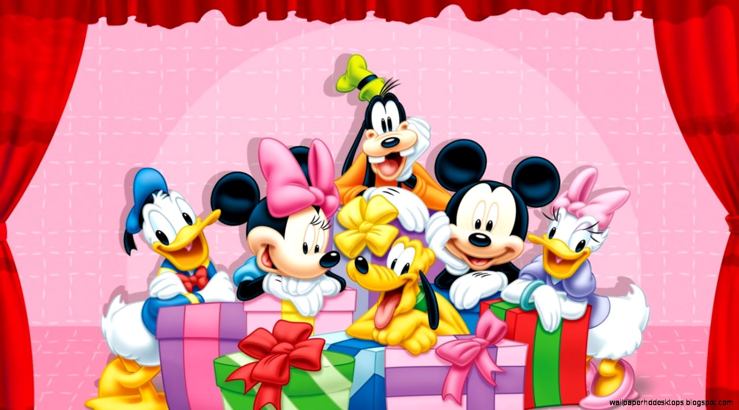 Birthday Party Mickey Minnie Mouse Hd Wallpaper Minnie Mouse Y Amigos 1504x835 Download Hd Wallpaper Wallpapertip