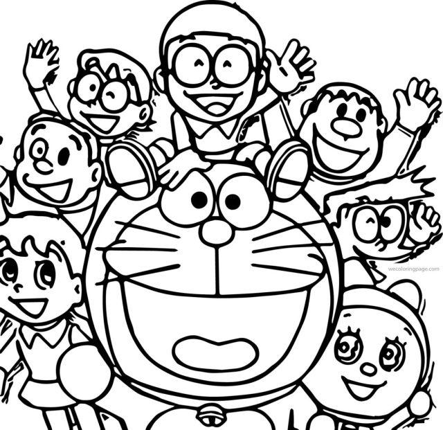 Doraemon Coloring Pages - 25x25 - Download HD Wallpaper